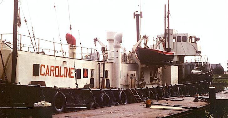 1968: Radio Caroline: geen geld, geen muziek