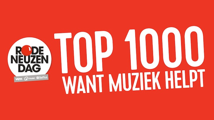 Qmusic start Rode Neuzen Dag Top 1000