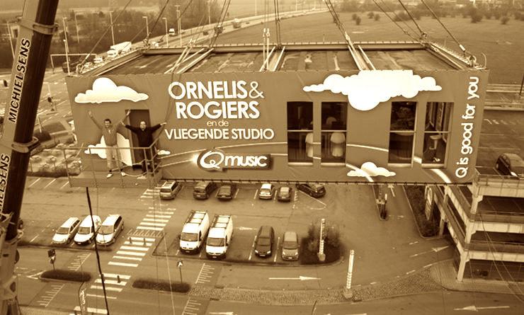 2009: Qmusic: opbouw Vliegende Studio gestart