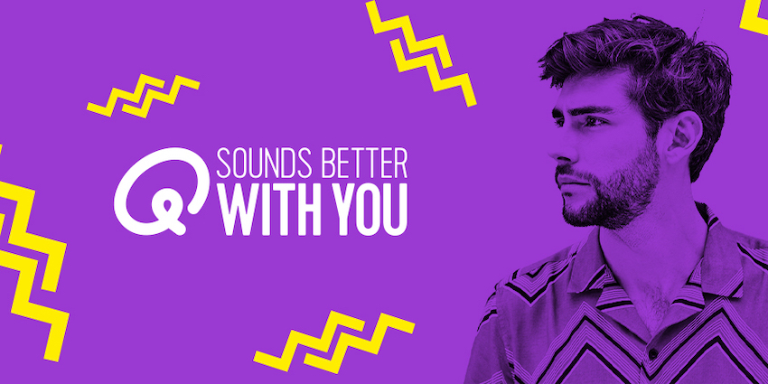 'Q sounds better with you'