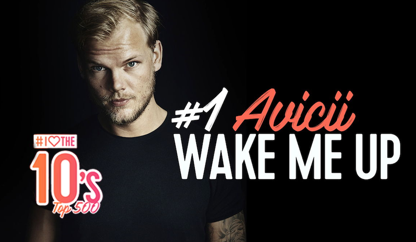Q: Avicii op 1 in 'I Love The 10's Top 500' (video)