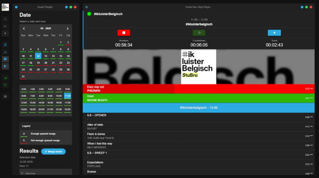 SmartRadio voor VRT online streams