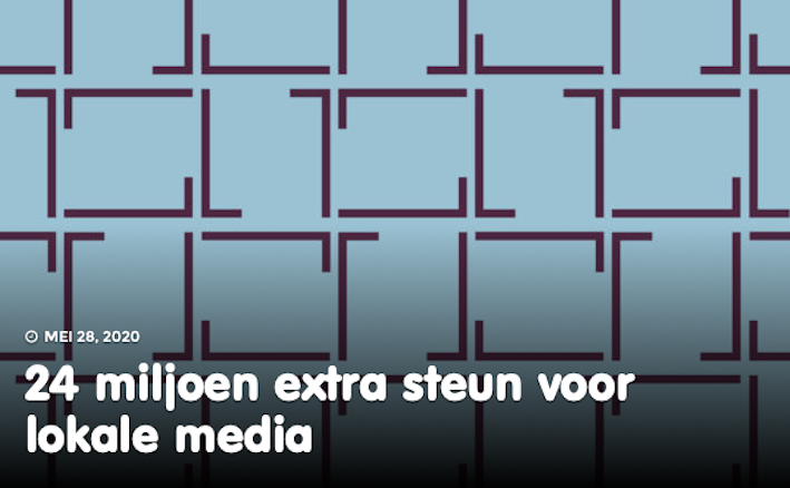 Steun lokale media wordt verlengd in Nederland