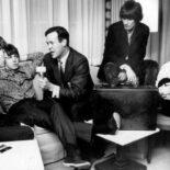 John Lennon, Paul McCartney, Bruce 'Cousin Brucie' Morrow, George Harrison, Ringo Starr, circa 1965