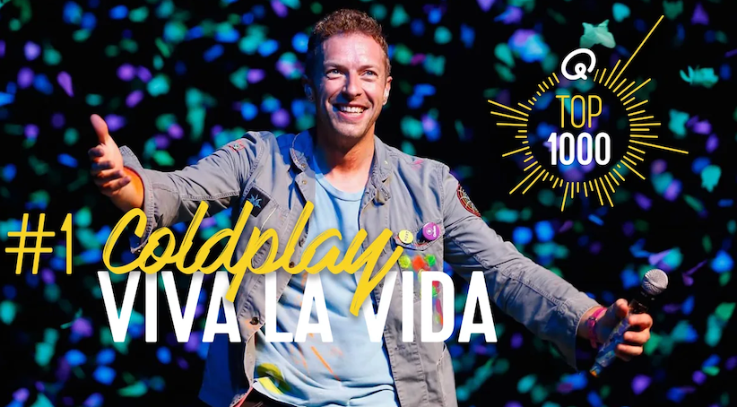 Q-Top 1000: 'Viva La Vida' van Coldplay op 1