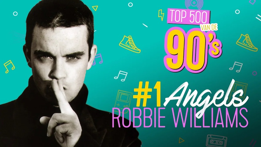 Q: Robbie Williams op 1 in de Top 500 van de 90's (video)