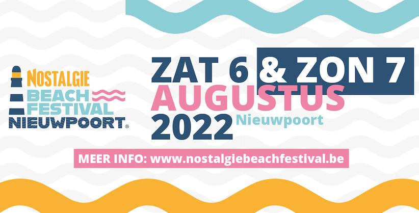 Nostalgie Beach Festival Nieuwpoort verplaatst naar 2022