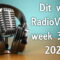 Dit was RadioVisie's week 39 in 2020